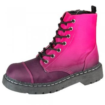 T.U.K. Shoes Anarchic 7 Eye Burgundy Ombre Boots