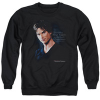VAMPIRE DIARIES/SOMETIMES - ADULT CREWNECK SWEATSHIRT - BLACK -