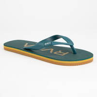Rvca Sandlot Mens Sandals Blue  In Sizes