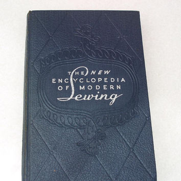Vintage Sewing Books The New Encyclopedia of Modern by WhimzyThyme