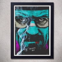 Breaking bad poster,heisenberg,pop art,digital print,print,tv series,Walter White,Jesse Pinkman
