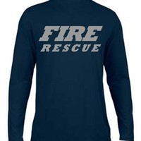 Moisture Wicking Fire Rescue Reflective Navy Long Sleeve