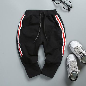 Autumn Kids Boys Male Full Length Trousers Baby Infants Clothing Casual Sports Long Pants Pantalones S5572