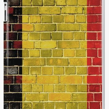 'Belgium flag on a brick wall' iPad Case/Skin by steveball