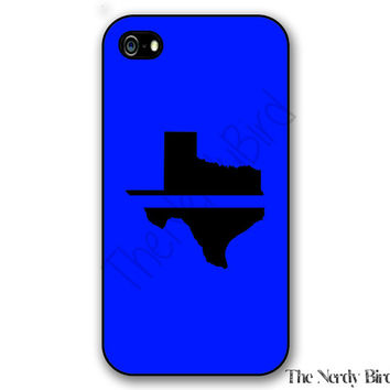 Thin Blue Line Texas iPhone 4, 5, 5c, 6 and 6 plus and Samsung Galaxy s3, s4 and s5 phone case