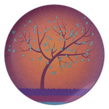 Tree of Life Melamine Plate