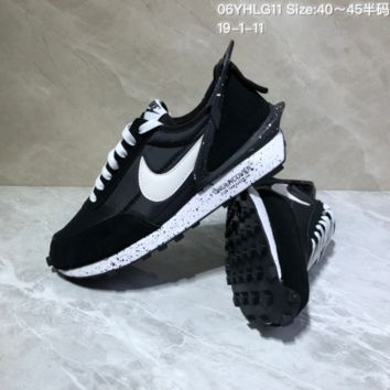KUYOU N944 Nike Ldflow Under Cover Avant-garde lightweight running shoes Black White