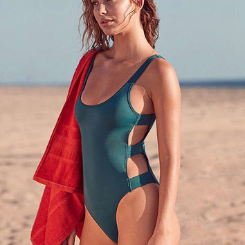 Out From Under Caged Side Strap One-Piece Swimsuit | Urban Outfitters