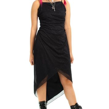 Vintage 90's Gothic Sparkle Fairy Dress - M/L