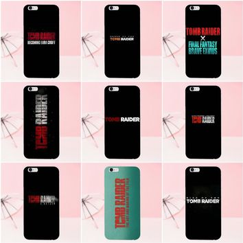Kmuysl Soft TPU Cell Phone Case Cover Tomb Raider Logo For Sony Xperia Z Z1 Z2 Z3 Z4 Z5 compact Mini M2 M4 M5 T3 E3 XA