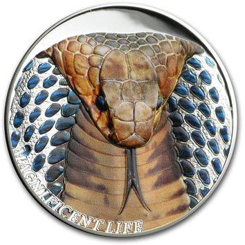 2017 Cook Islands 1 oz Silver Magnificent Life (Cobra)