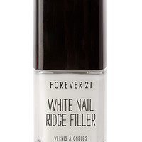 FOREVER 21 White Nail Ridge Filler White One