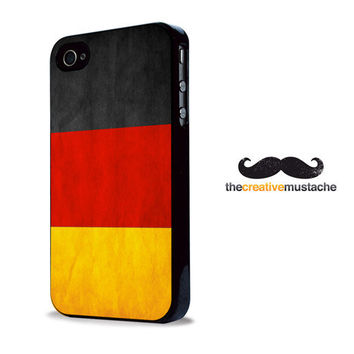 Custom iPhone 4 Case iPhone 5 Case - VINTAGE GERMAN FLAG - iPhone 4 cover iPhone 5 cover