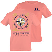 Simply Southern Preppy SS Compass Melon T-Shirt