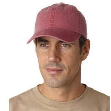 PLAIN Nautical Red Ball cap