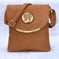 Vintage with Metal Accent Messenger Bag