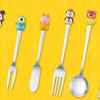 Disney Tsum Tsum Character Knife Spoon Fork Chopsticks 6 Cutlery Set