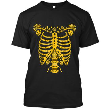SKELETON  | Halloween Costume Mexican Day Of The Dead Custom Ultra Cotton