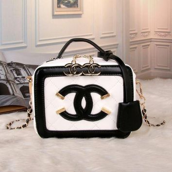 LMFON Chanel' Personality Fashion Multicolor Quilted Letter Metal Chain Single Shoulder Messenger Bag Women Cosmetic Handbag