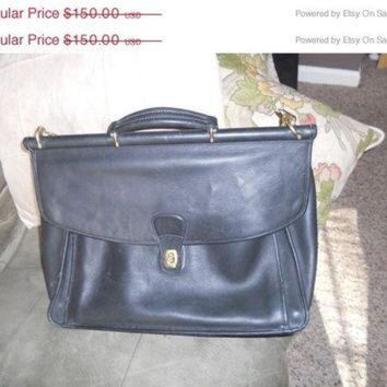 On Sale 30% Off Vintage Coach Attache Briefcase Bag Black Leather Used - Beauty Ticks