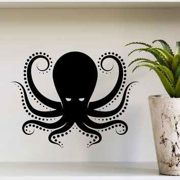 Wall Decal Octopus Kraken Tentacles Sea Animal Design Interior Wall Decals Living Room Bedroom Hotel Hostel Vinyl Stickers Home Decor 3870