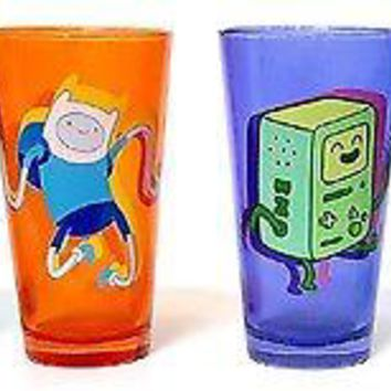 Adventure Time Dancing Set of 4 Drinking Pint Glasses