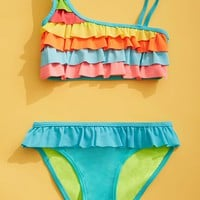 Girls Ruffle Swim Set (Kids)