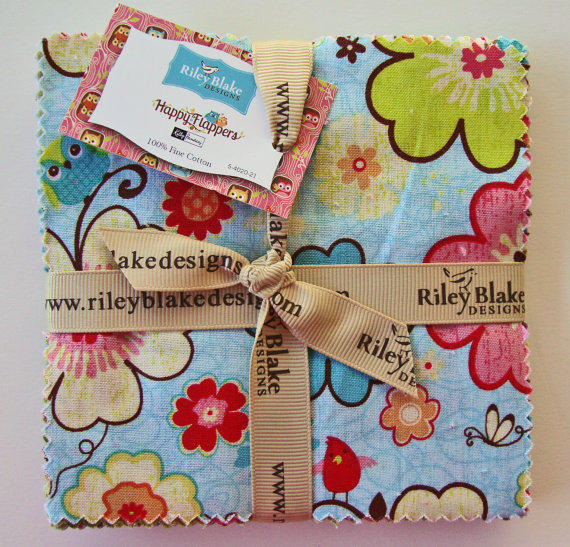 Happy Flappers Charm Pack 5 Inch From Jambeariesetsy On Etsy