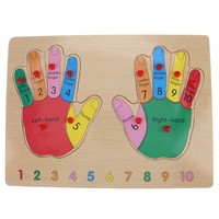 Kid Early Educational Small Wooden Toys Baby Finger Cognition Hand Grasp Wooden Jigsaw Puzzle Toy Child Wood Jigsaw Toy