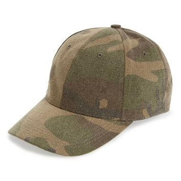 Amici Accessories Camo Print Canvas Ball Cap | Nordstrom