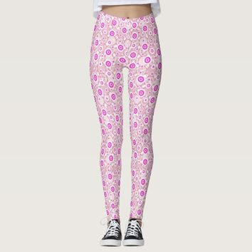 Cute abstract pinky dots patterns leggings