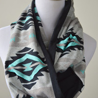 Turquoise Navajo infinity scarf