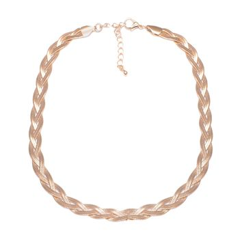 Weaved Herringbone Choker Necklace