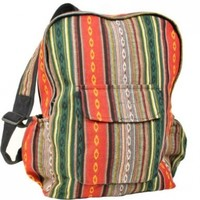 Unisex Cotton Boho Ethinic Hippie School Backpack-multi-one Size