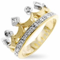 Two-Tone Crown Ring