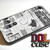 Harry Potter Facts Revealed iPhone Case Cover|iPhone 4s|iPhone 5s|iPhone 5c|iPhone 6|iPhone 6 Plus|Free Shipping| Beta 156