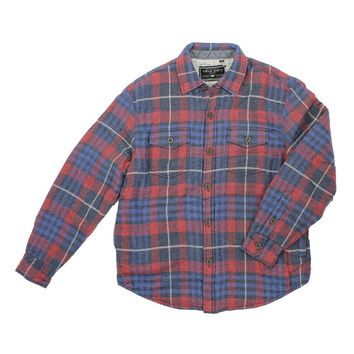 Baja Plaid Shirt Jacket With Sherpa Lining by True Grit