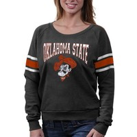 Oklahoma State Cowboys Ladies Slouchy Pullover Sweatshirt - Charcoal
