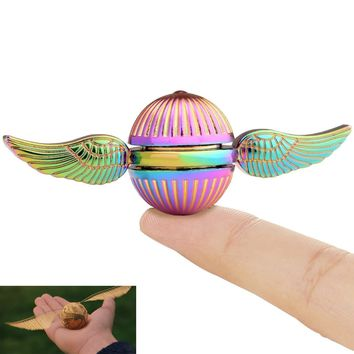 Harry Potter Fidget Hand Spinner Toy, the Golden Snitch Used in Quidditch, Mixed Color