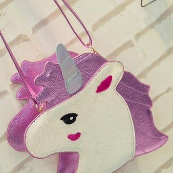 Purses - Unicorn Dreams Crossbody Bag in Pink