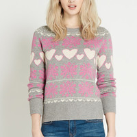 Heart And Snowflake Jumper