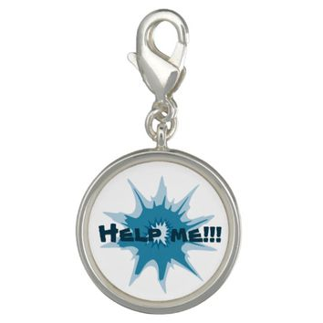 Blue bullet hole. Add your text. Charm