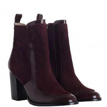 Contrast Leather Mid Boot - Accessories & Shoes - Ready To Wear