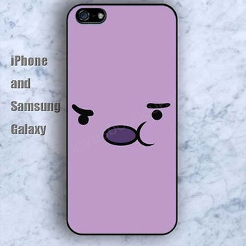 Cartoon Abstract face iPhone 5/5S Ipod touch Silicone Rubber Case, Phone cover