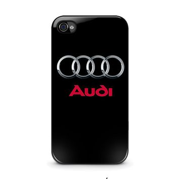 audi iphone 4 4s case cover  number 1