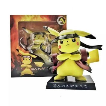Pikachu Uzumaki Naruto Pokemon Action Figure Toy