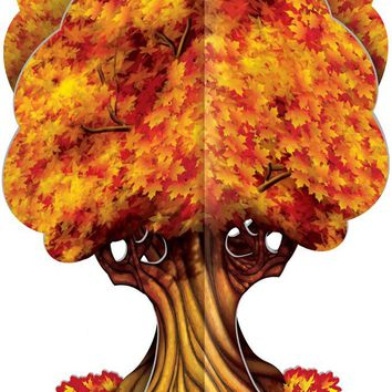 3-D Fall Tree Centerpiece - CASE OF 24