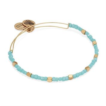 Alex and Ani Sea Glass Odyssey Beaded Bangle - Rafaelian Gold Finish