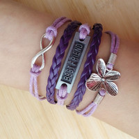 Welcome to my shop, friend  bracelet,clover  Bracelet,infinity  Bracelet, , music note ,If you like it, click the collection