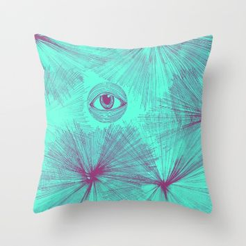 Uncommon Knowledge - Teal Throw Pillow by Ducky B